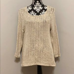 Lucky Brand Open Knit Sweater NWT